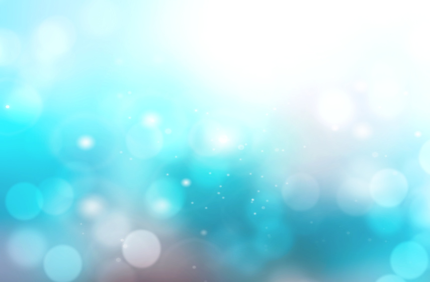 Abstract aqua blue blurred bokeh background.
